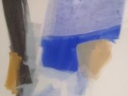Weiß mit Blau